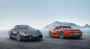 Porsche 718 Boxster, la nuova roadster a quattro cilindri e motore centrale