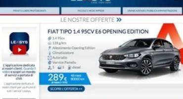 Leasys e Nuova Fiat Tipo, la proposta su misura per il noleggio a lungo termine