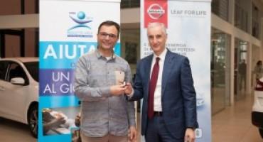 """Nissan """"LEAF FOR LIFE"""": in Italia, la prima LEAF 250km consegnata alla Fondazione Progetto Arca onlus"""