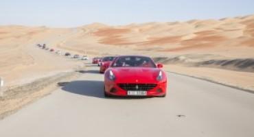 Ferrari California T, il raduno nel deserto arabo di Liwa