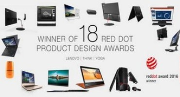 "A Lenovo ben 18 premi ""Red Dot Product Design Award"""