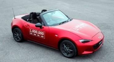 Mazda Motor, prodotto il milionesimo esemplare di MX-5