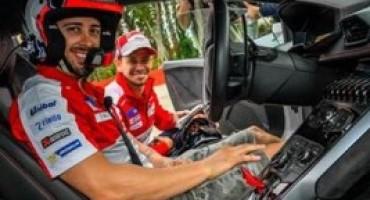 I piloti di Ducati Corse, Dovizioso e Stoner, ospiti della Squadra Corse Lamborghini