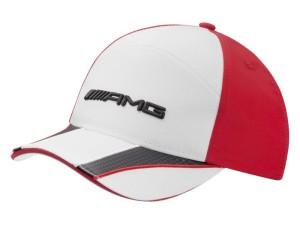 Cap AMG, Kids, Weiß/Rot. 100% Polyamid. Children's AMG cap, white/red. 100% polyamide.