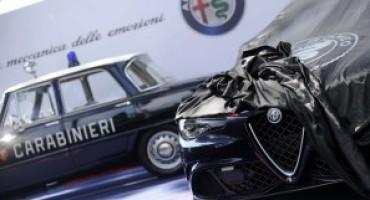 L'Alfa Romeo consegna la nuova Giulia Quadrifoglio all'Arma dei Carabinieri