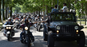 A Torino il raduno jeepers e bikers  Harley-Davidson® #freedomlovers