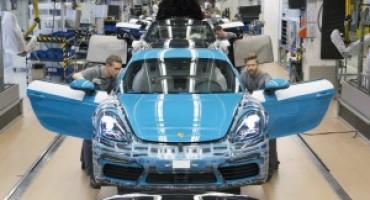 Porsche 718 Cayman, ottimo avvio di produzione nello stabilimento di Zuffenhausen