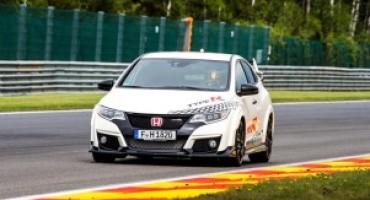 Honda Civic Type R stabilisce nuovi tempi record su cinque circuiti leggendari
