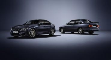 """BMW M3 """"30 JAHRE M3"""", un'edizione speciale per celebrare il 30° anniversario dell'icona sportiva di Monaco"""