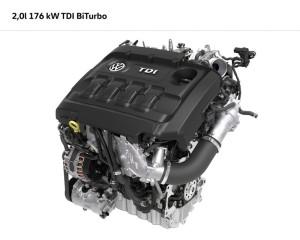 2.0 TDI Biturbo Motor mit 176 kW / 240 PS