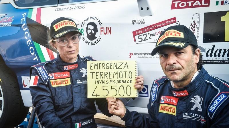 Peugeot Sport Italia è al fianco dei terremotati