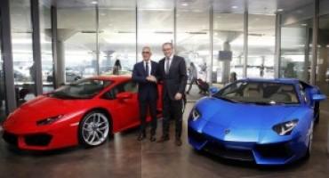 Automobili Lamborghini inaugura un nuovo corner espositivo presso l'Aeroporto di Bologna