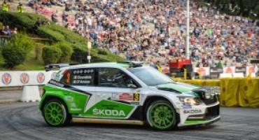 4° Rally di Roma Capitale, la coppia di Skoda Italia trionfa e punta al campionato