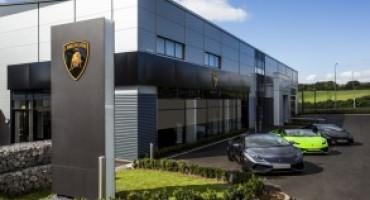Lamborghini, nuova Corporate identity per lo showroom di Bristol
