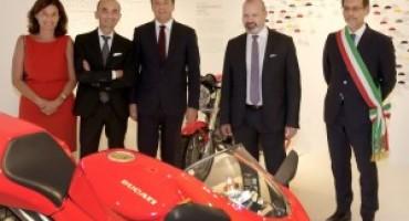 Il Premier Matteo Renzi all'inaugurazione del nuovo Museo Ducati