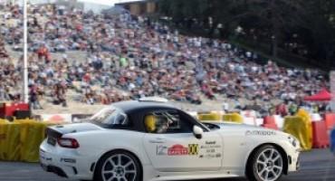 Abarth 124 Rally, uscita con show al Rally di Roma Capitale