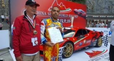 Fabio Barone stabilisce il nuovo record in Cina su Ferrari 458