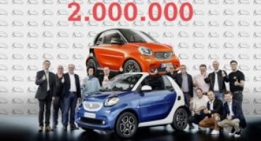 La 'piccola' smart festeggia gli oltre due milioni di esemplari venduti