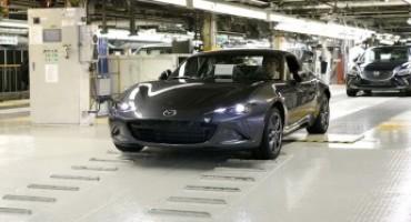Mazda MX-5 RF, inizia la produzione della versione con tetto retraibile