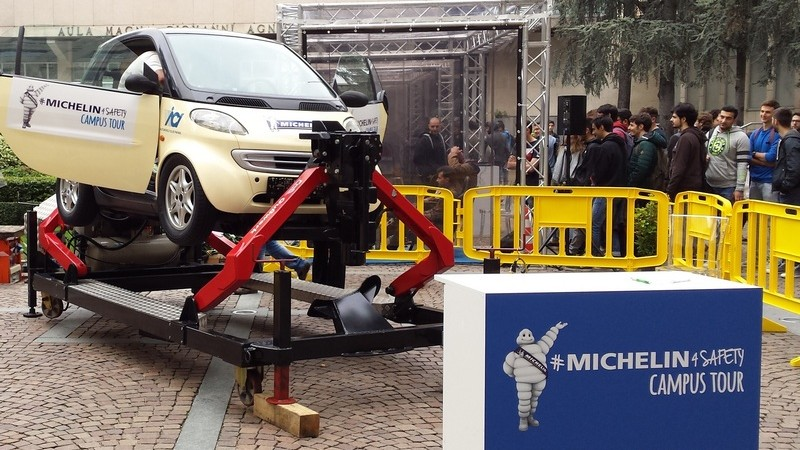 Michelin, il Villaggio per la Sicurezza Stradale fa tappa all'Università di Parma