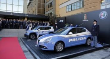 Il Gruppo FCA consegna alla Polizia dello Stato una nuova flotta di vetture Jeep e Alfa Romeo
