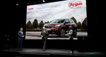 "Peugeot, premiati 3008 ed Expert nei ""Trofei Argus 2017"""