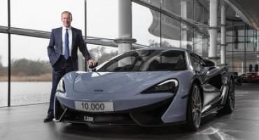 McLaren Automotive, un anno record il 2016, sfiorato il 100% di incremento nelle vendite