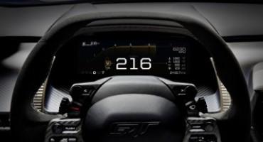 Ford GT, un salto nel futuro con il nuovo display digitale adattivo