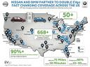 Nissan e BMW potenziano EVgo, la più vasta rete pubblica di stazioni di ricarica in c.c. rapida degli Stati Uniti