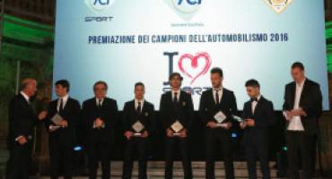 A Caserta la premiazione dei Campioni dell'Automobilismo 2016