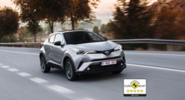 Nuovo Toyota C-HR ottiene le cinque stelle nei test EuroNCAP