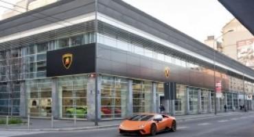 Automobili Lamborghini apre un nuovo showroom a Milano