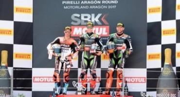 WSBK – Aragon: in Gara 1 Jonathan Rea conferma la sua leadership e sale quota cinque vittorie