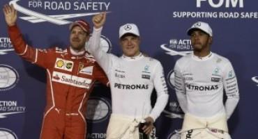 Formula 1 – GP Bahrain: Bottas sigla la sua prima pole su Mercedes