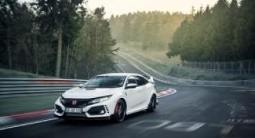 Nuova Honda Civic Type R stabilisce un nuovo record sul circuito del Nürburgring