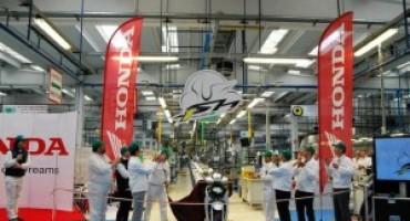 Honda Italia, lo stabilimento di Atessa festeggia il milione di SH prodotti