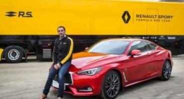 Cyril Abiteboul riceve da Infiniti la veloce e potente Q60S Coupè