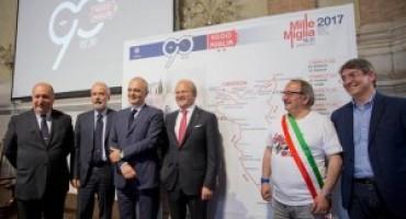 La Mille Miglia compie 90 anni, l'edizione 2017 vedrà al via 450 partenti