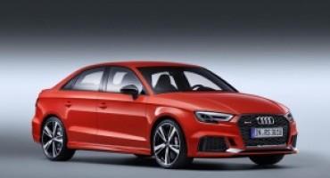 Audi, design ancora più accattivante per le nuove RS3, Sportback e Sedan, e TT RS Coupé
