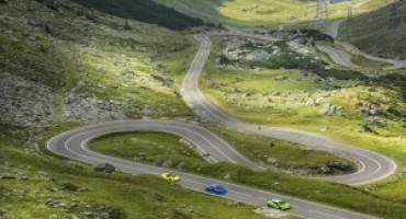 Sei Lamborghini in Transilvania sfidano le avversità della Transfăgărășan