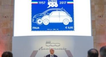 Fiat 500, arriva il francobollo celebrativo