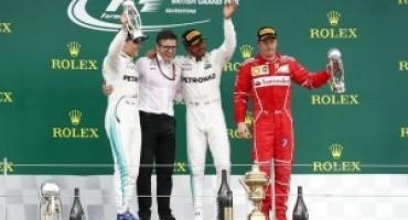 Formula 1 – GP Silverstone: terzo successo stagionale per Hamilton, terzo Raikkonen, settimo Vettel