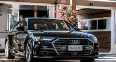 Nuova Audi A8, a Porto Cervo la première nazionale dell'ammiraglia dei quattro anelli