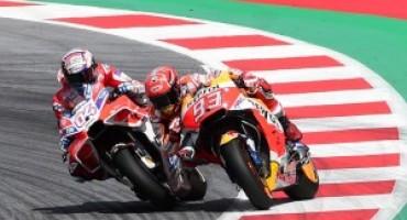 MotoGP, un grandissimo Dovizioso piega Marquez e vince in Austria. Terzo Pedrosa
