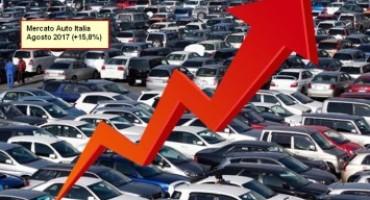 ANFIA – Mercato Auto Italia: crescita a due cifre nel mese di Agosto (+ 15,8%)