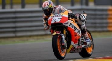 MotoGP, nelle libere di Aragon è Dani Pedrosa il più veloce. Rossi correrà