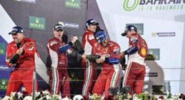 FIA World Endurance Championship: doppietta Ferrari in Bahrain, Pier Guidi e Calado campioni del mondo GT