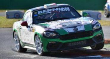 Monza Rally Show, grande spettacolo dell'Abarth 124 Spider