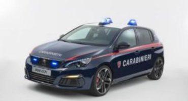 Peugeot consegna una 308 GTI all'Arma dei Carabinieri