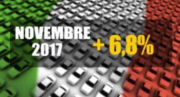 ANFIA – Mercato Auto Italia, anche Novembre si chiude con il segno positivo, + 6,8%